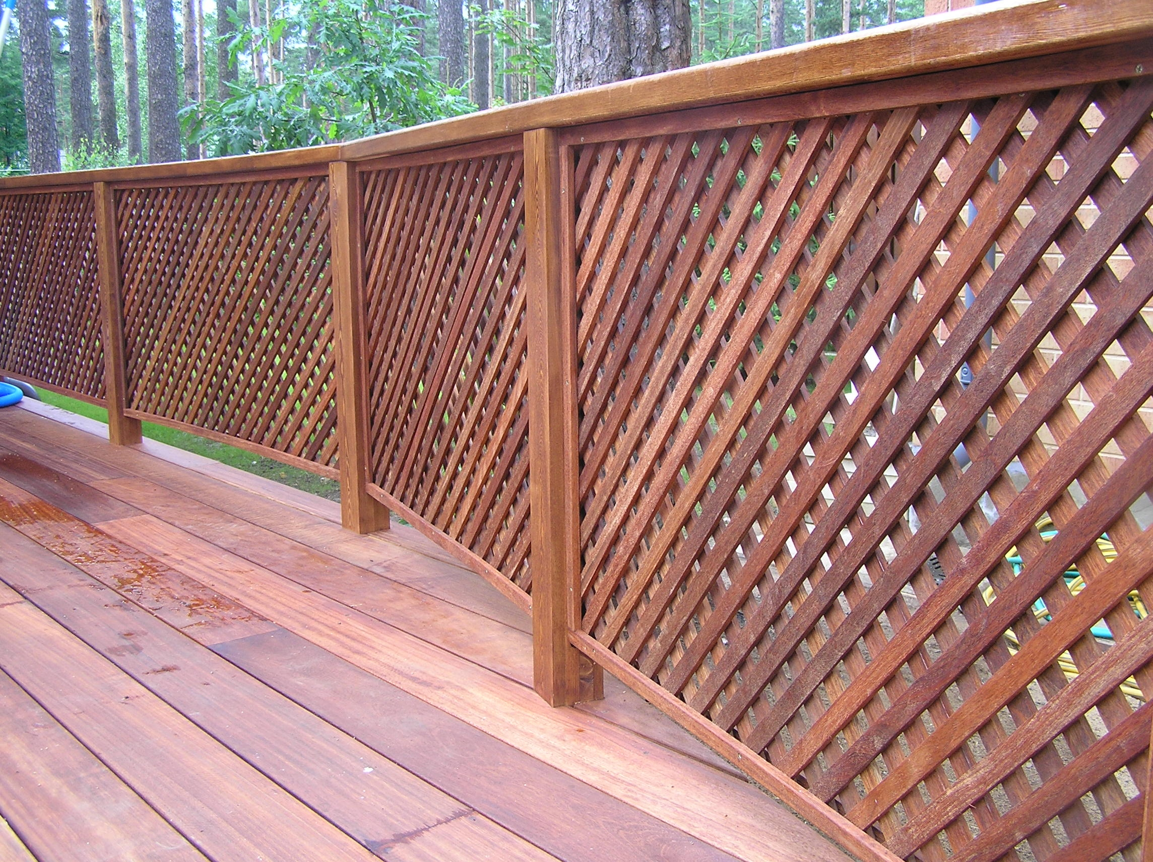 Деревянная ограда для террасы своими руками 48