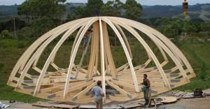 купольная теплица деревянная