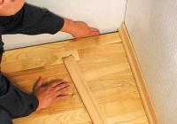 Монтаж плинтуса деревянного
